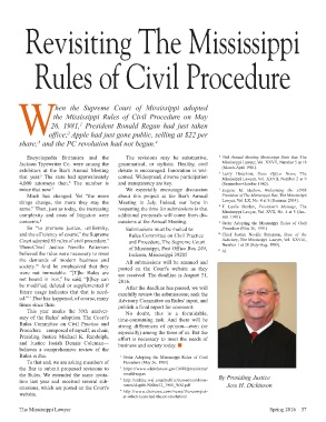 Mississippi Rules Of Civil Procedure >> Page 37 Ms Lawyerspring2016